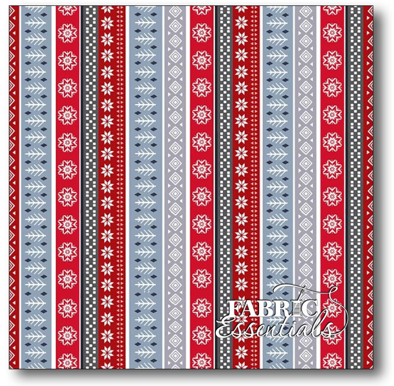 Studio e - Snow Delightful - Stripe - 3854-98