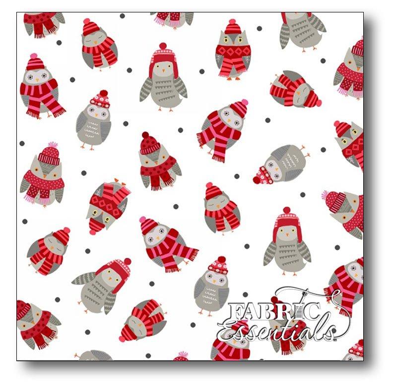 Studio e - Snow Delightful - Tossed Owls - 3856-8