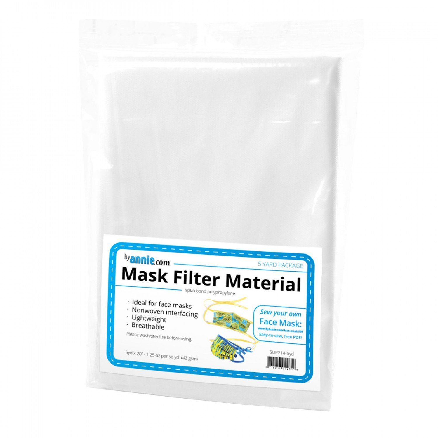 Mask Filter Material - 5yd x 20in - SUP214-5