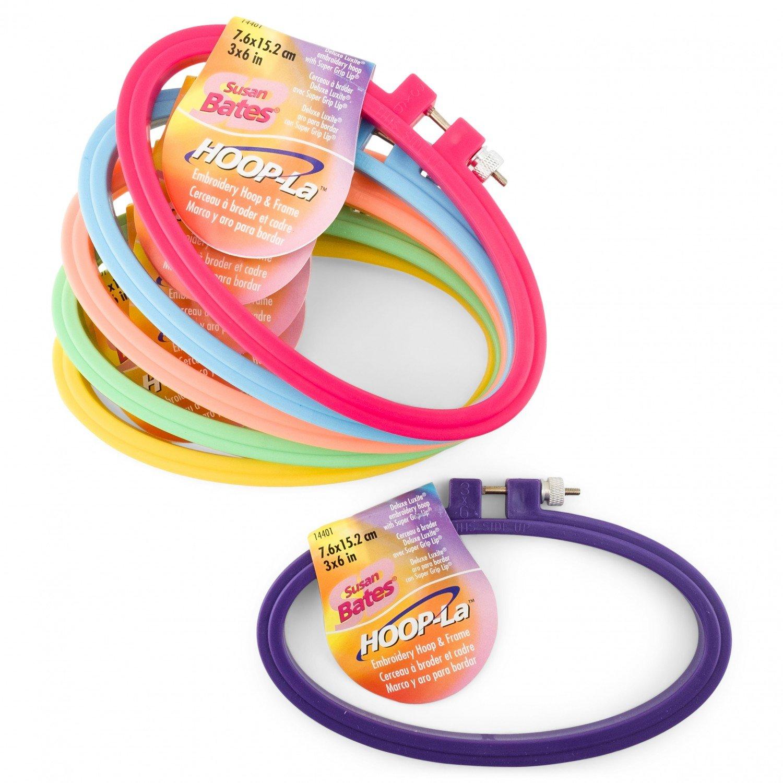 Susan Bates - Hoop-La Embroidery Hoop - 6in - Multi Colors - 14401-006