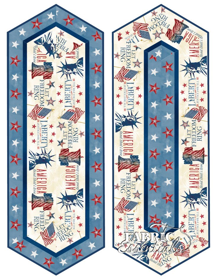 Liberty Lane - Table Runners Kit - Includes Backing - Makes 2! (See Note)