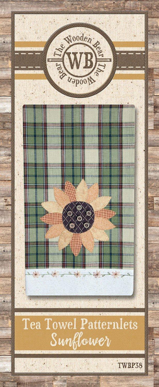 Tea Towel Patternlets - Sunflower - TWBP38