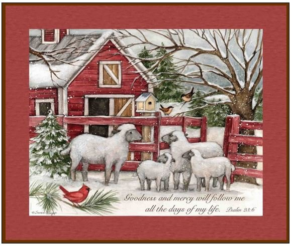 The Lord Is My Shepherd Christmas QUILT KIT