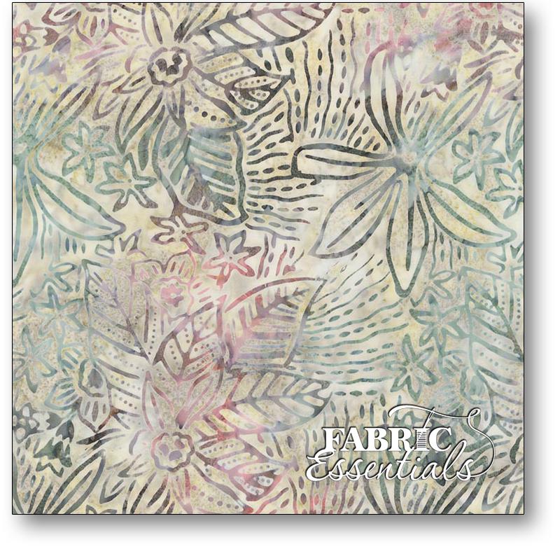 Timeless Treasures - Botanica Park - Tonga-B6195-Succulent - Lush Leaves Batik - BOLT END - 26in