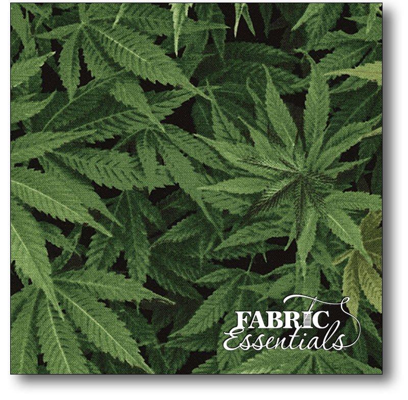 Timeless Treasures - Cannabis - Nature-C3819-Green