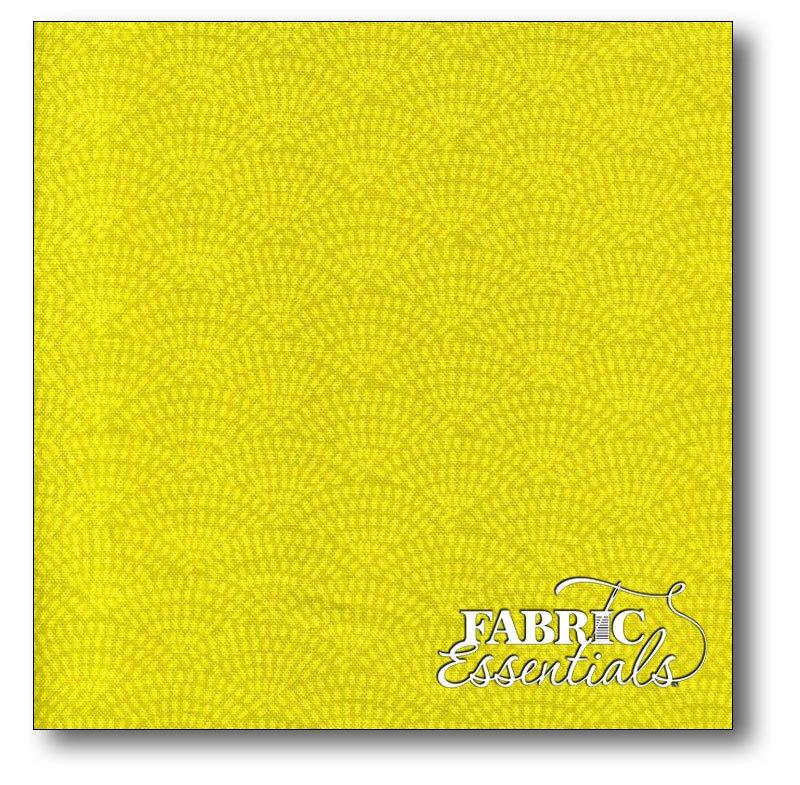 Timeless Treasures - Dashed Scallop Motif - c5100-Citron