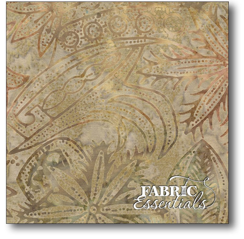 Timeless Treasures - Forest Floor - Tonga-B5040-Jute - 9 3/4 yards - 45in wide - cut in 3 - 3 1/4 yd pieces