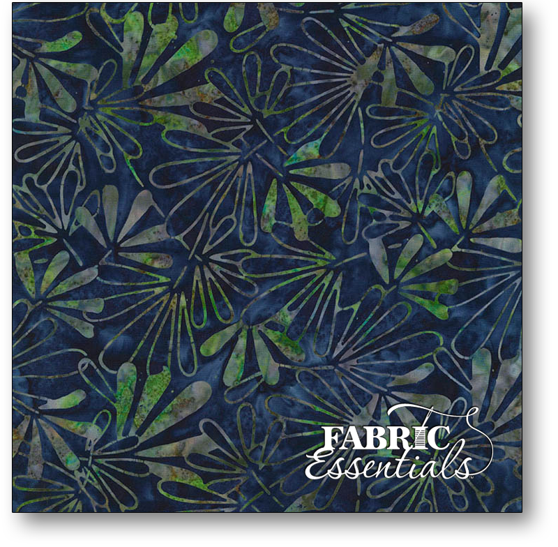 Timeless Treasures - Lush Batiks - Tonga-B6202-Royal - Tiki Batik