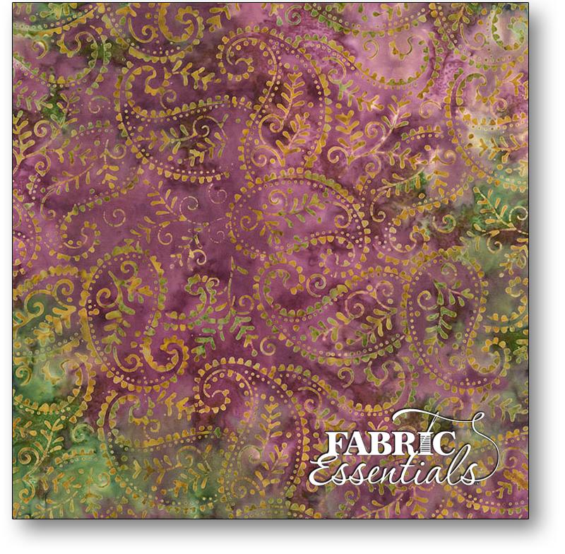 Timeless Treasures - Lush Batiks - Tonga-B6203-Lush - Paisley Batik