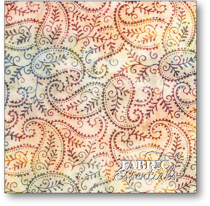 Timeless Treasures - Lush Batiks - Tonga-B6203-Wine - Paisley Batik