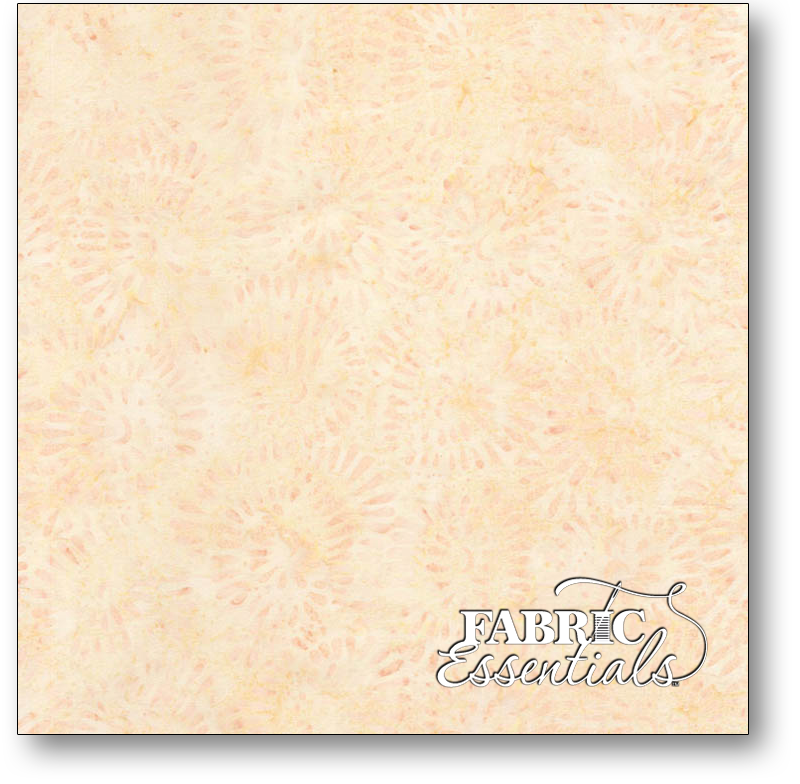 Timeless Treasures - Lush Batiks - Tonga-B6302-Shell - Bead Flowers Batik