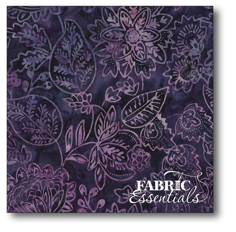Timeless Treasures - Mystical Prism - 106in Wide Batik Backing - XTonga-B3313-Dewberry - BOLT END - 1yd 7in x 106in