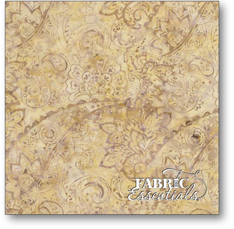 Timeless Treasures - Quarry Batiks - Mineral Matrix - Tonga-B4382-Latte - Fashion Floral Batik