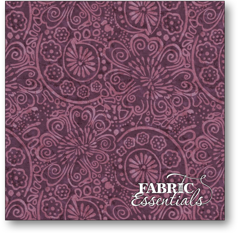 Timeless Treasures - Tapestry - JT-C6909-PURPLE Tonal - BOLT END - 1yd 14in