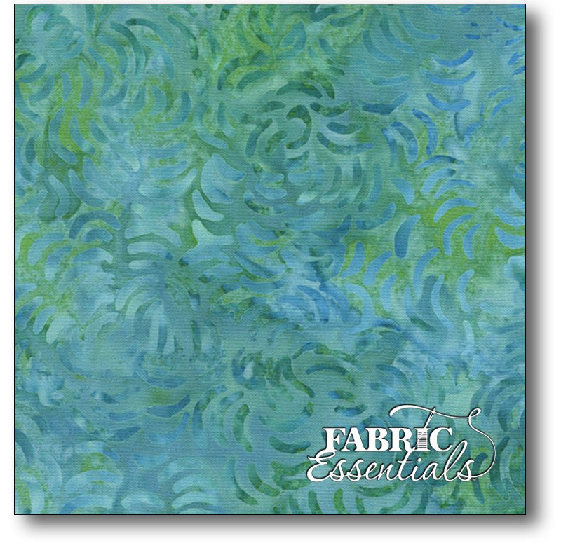 SEA ISLANDS - QUEEN BACKING - Timeless Treasures - 106in Wide Backing - XTonga-B9856-Scuba - BOLT END - 2yds 2in