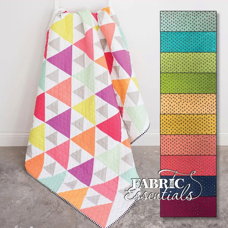 Triangle Peaks Throw Quilt Kit