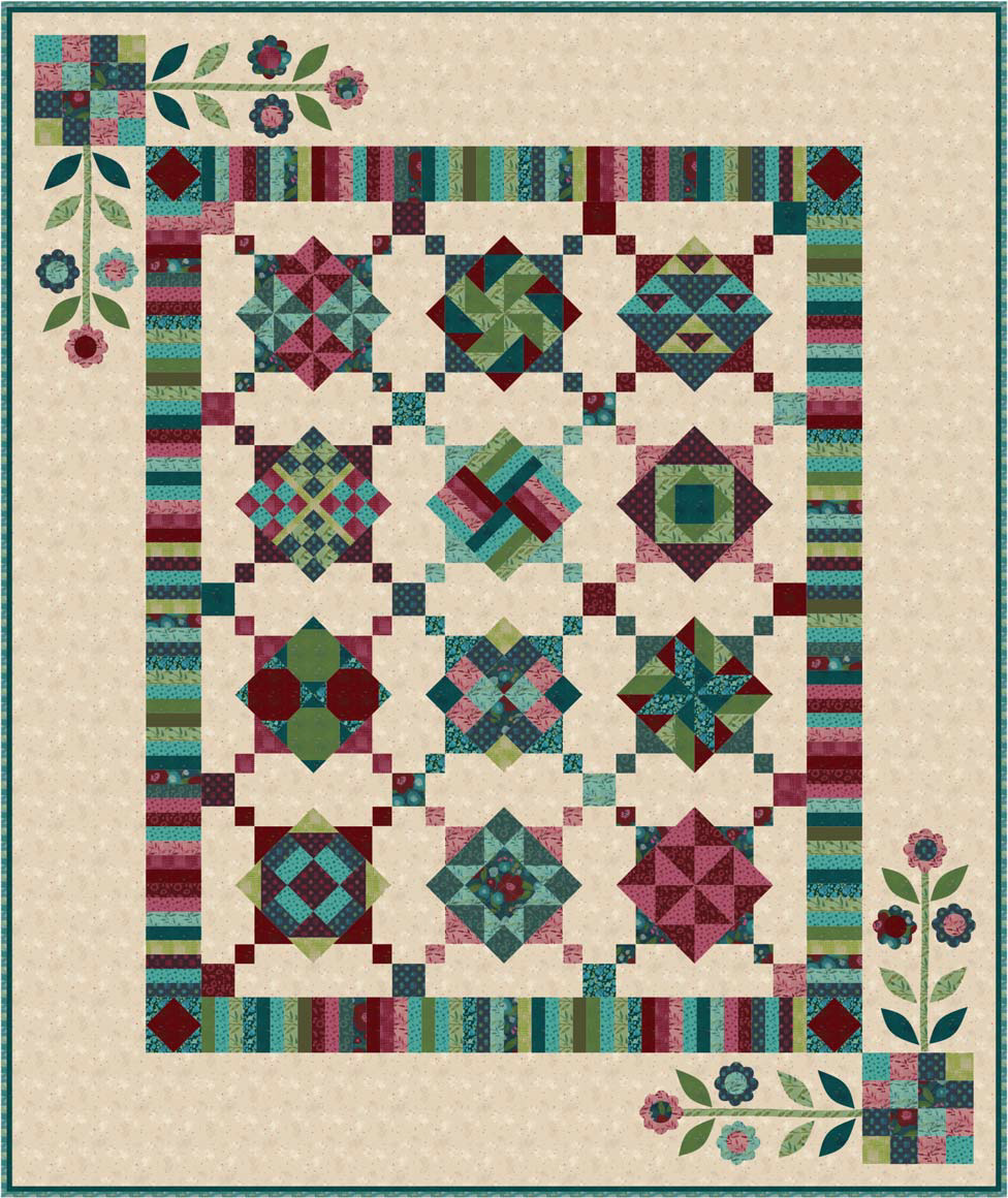 Twilight Twist  BOM Quilt - Backing Included - Queen or King!