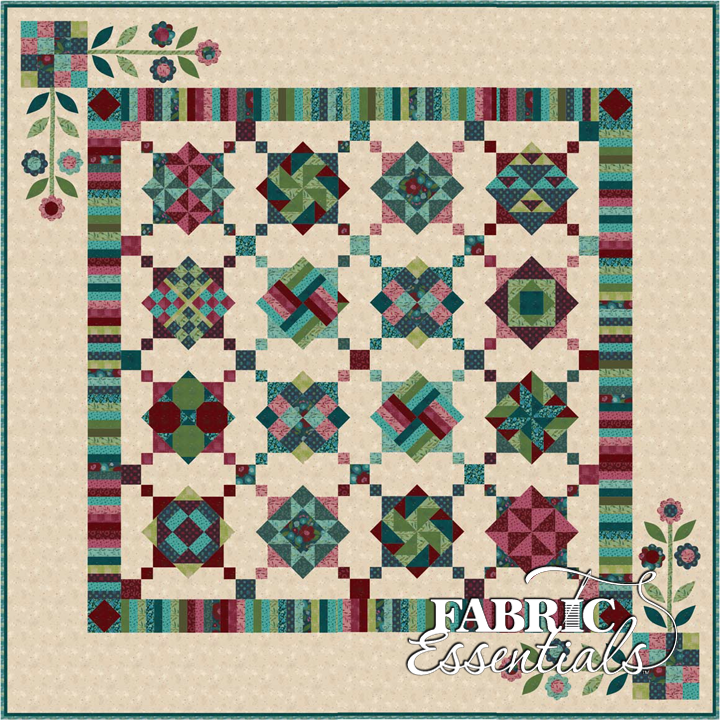 Twilight Twist  BOM Quilt - Backing Included - King Res Fee - ONE LEFT!