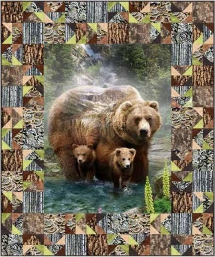 Wild Grizzly Bear Quilt KIT!