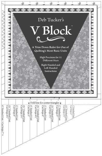 Studio 180 - Deb Tucker's - DT11 - V Block Ruler