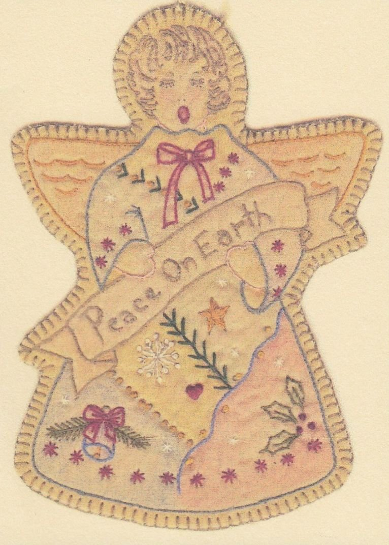 Vintage Christmas Ornament - CDHV09 - Angel