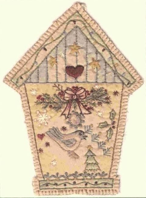 Vintage Christmas Ornament - CDHV06 - Birdhouse