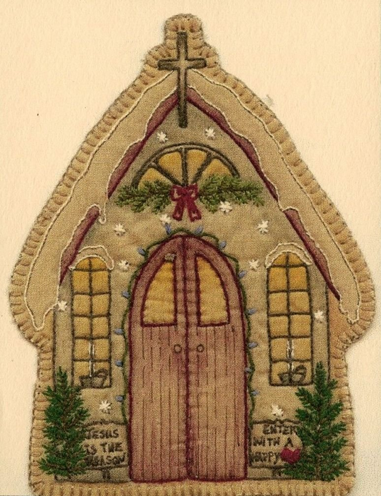 Vintage Christmas Ornament - CDHV13 - Church
