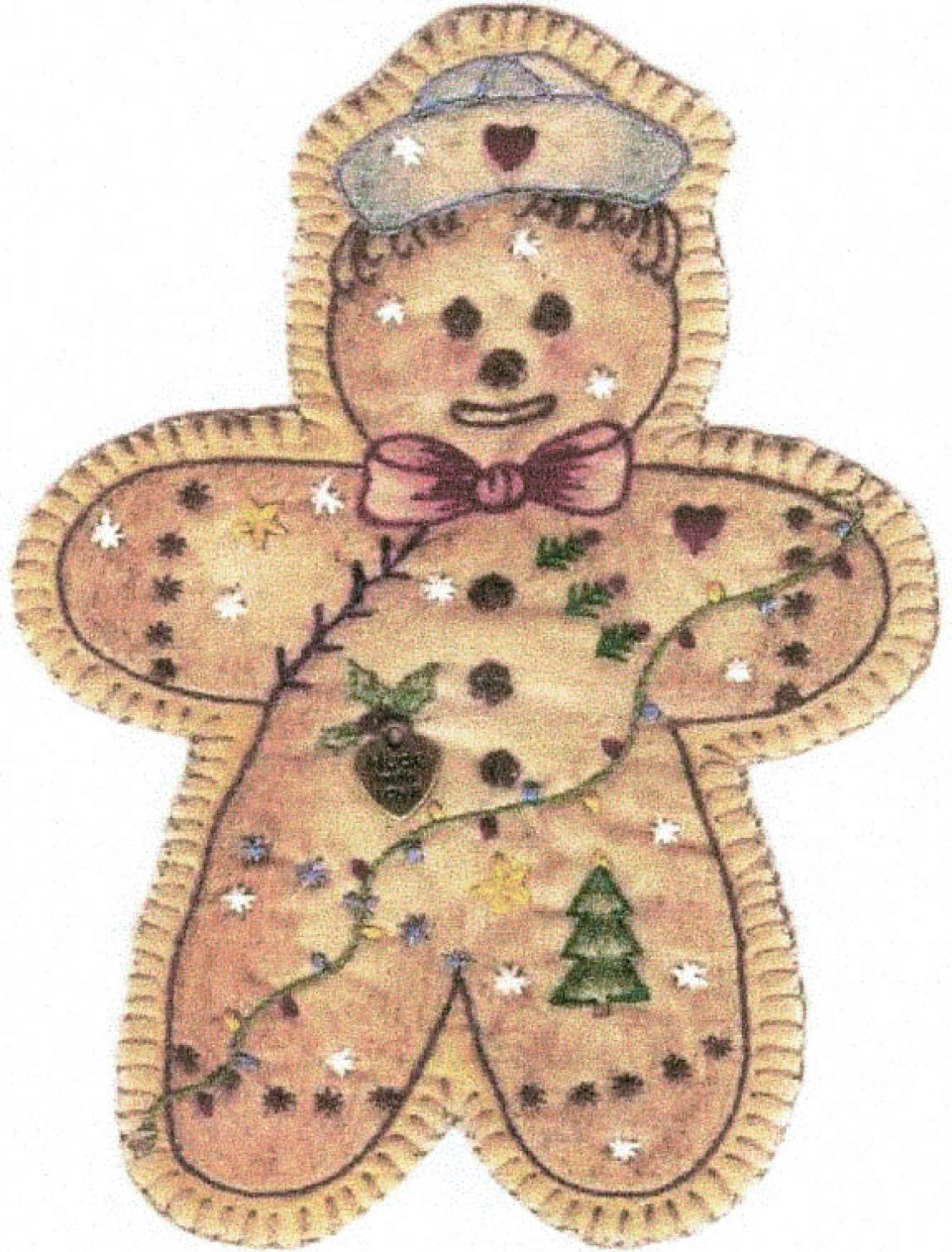 Vintage Christmas Ornament - CDHV15 - Gingerbread Boy