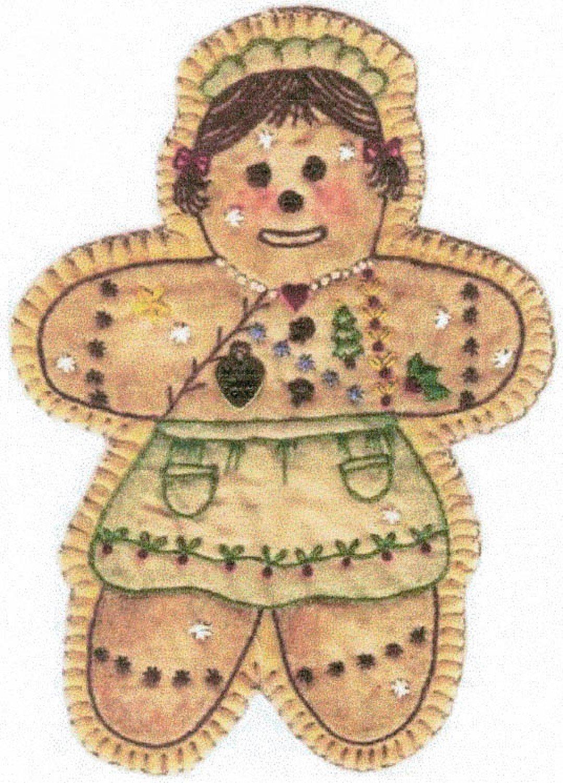 Vintage Christmas Ornament - CDHV16 - Gingerbread Girl