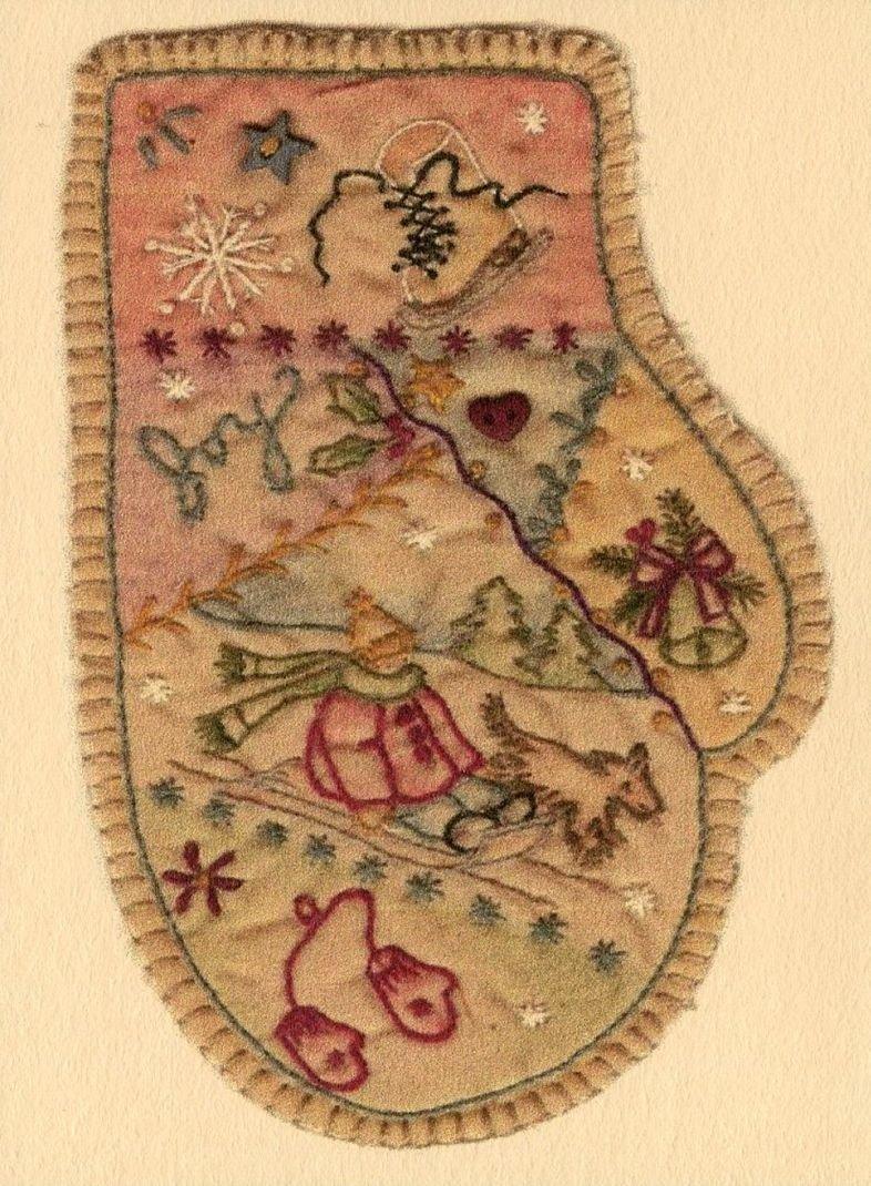 Vintage Christmas Ornament - CDHV07 - Mitten