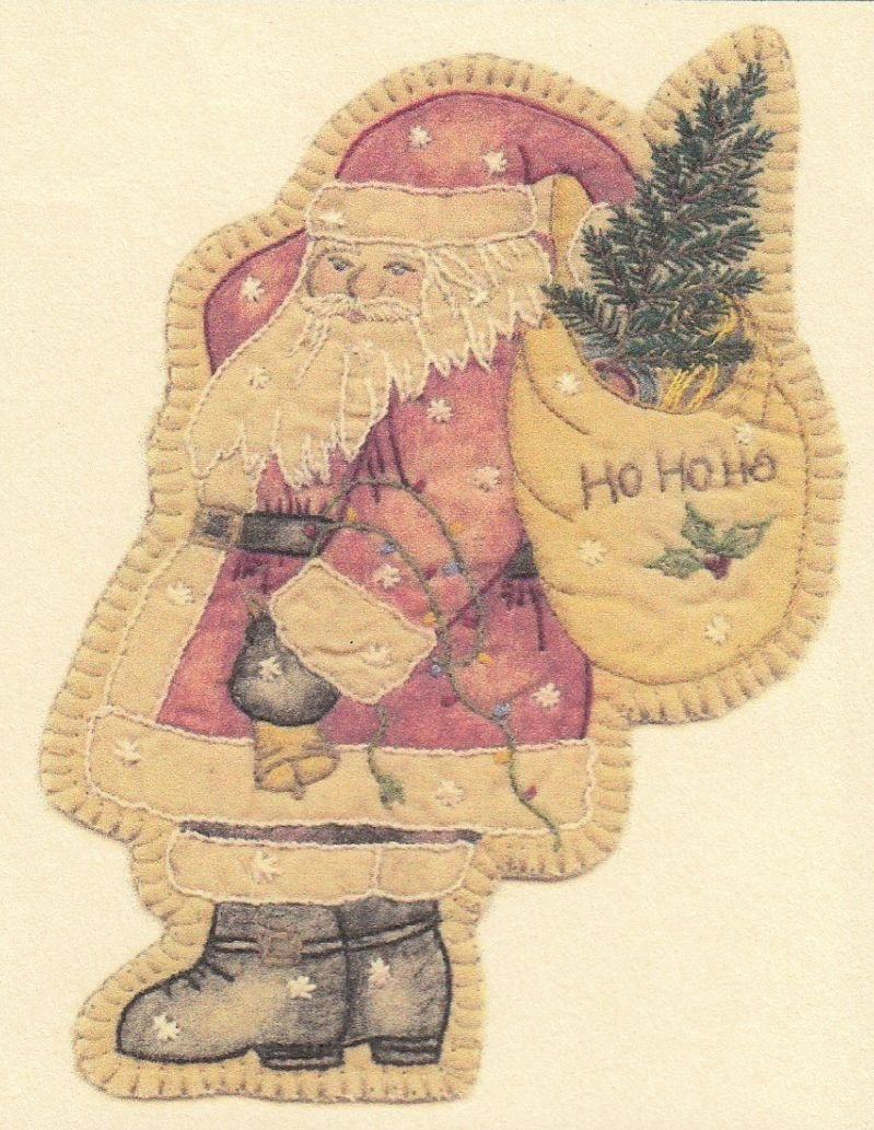 Vintage Christmas Ornament - CDHV17 - Santa