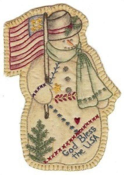 Vintage Christmas Ornament - CDHV11 - Snowman