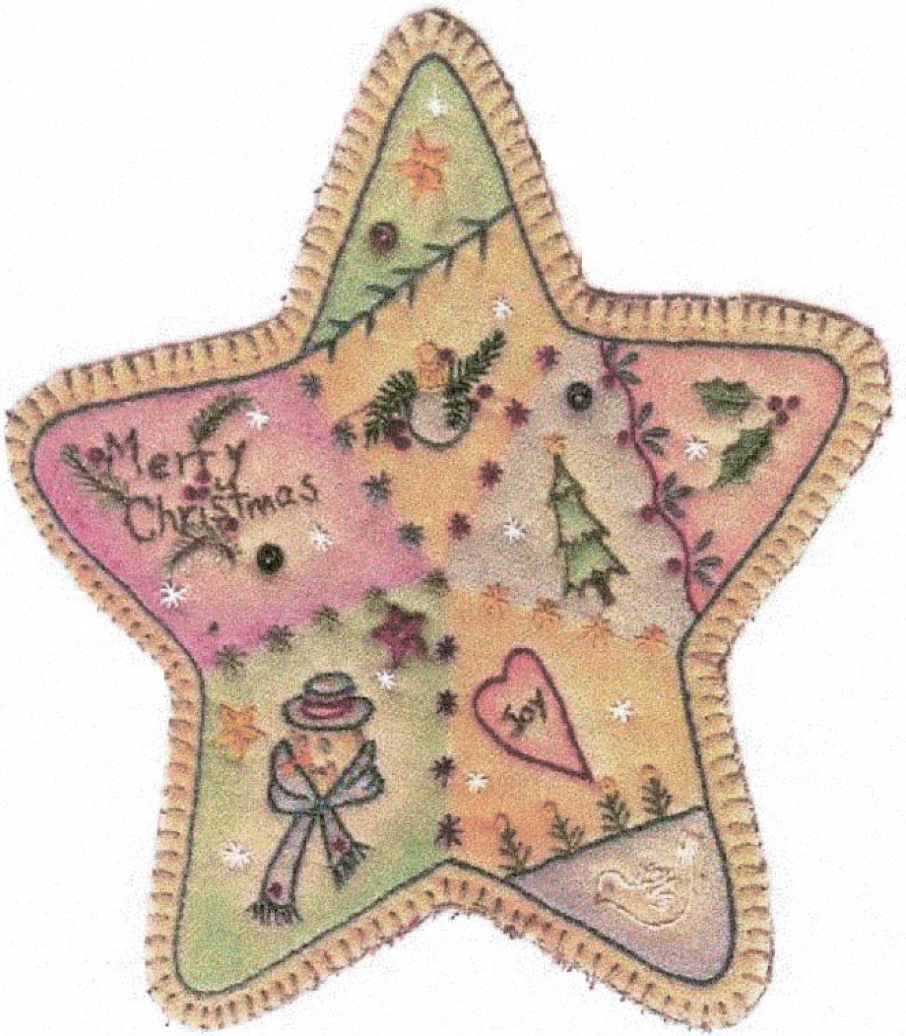 Vintage Christmas Ornament - CDHV03 - Star
