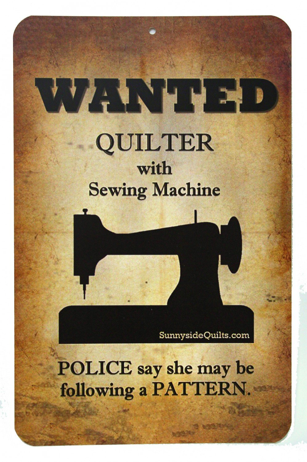 Sign - Wanted - Quilter with Sewing Machine