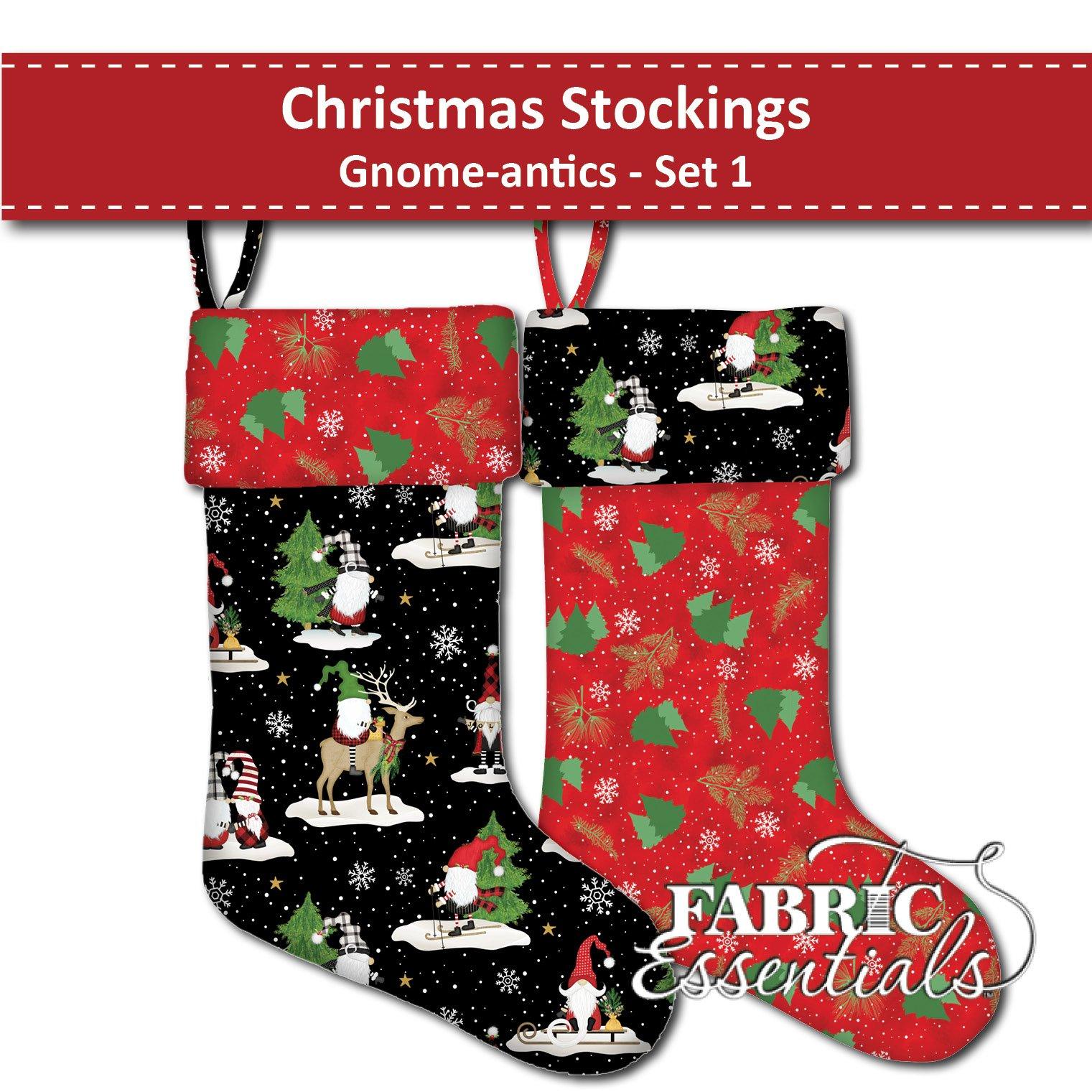 Gnome-antics - Christmas Stockings - Set 1