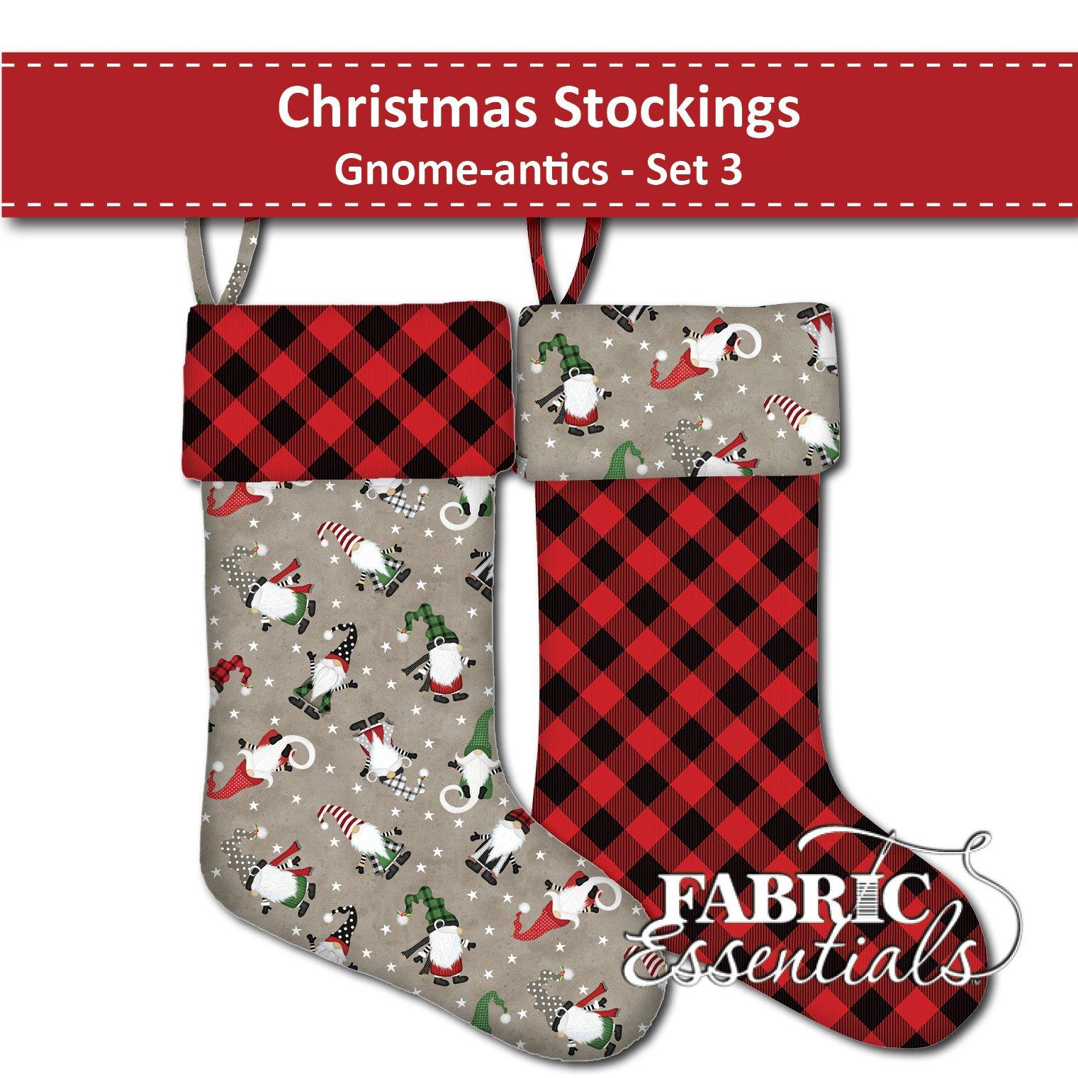 Gnome-antics - Christmas Stockings - Set 3