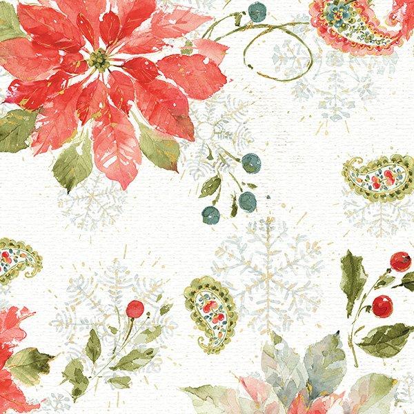 Wilmington - Magic of the Season - All over Winter Poinsettia Floral - 86438-173