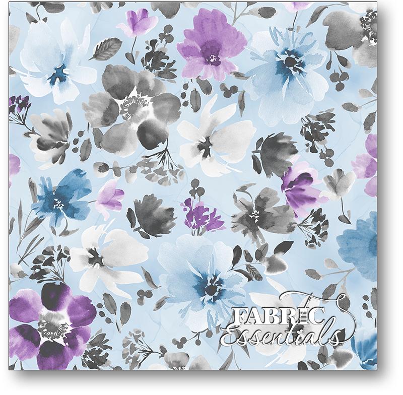 Wilmington - Awakenings - 3039-13402-496 - Large Floral Allover Blue