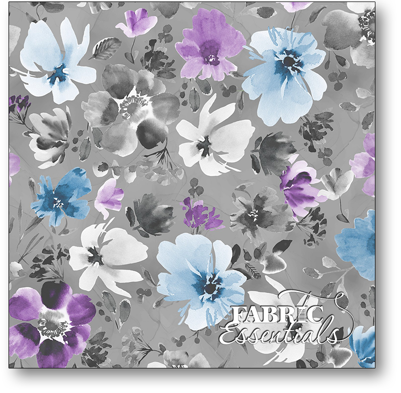 Wilmington - Awakenings - 3039-13402-996 - Large Floral Allover Gray