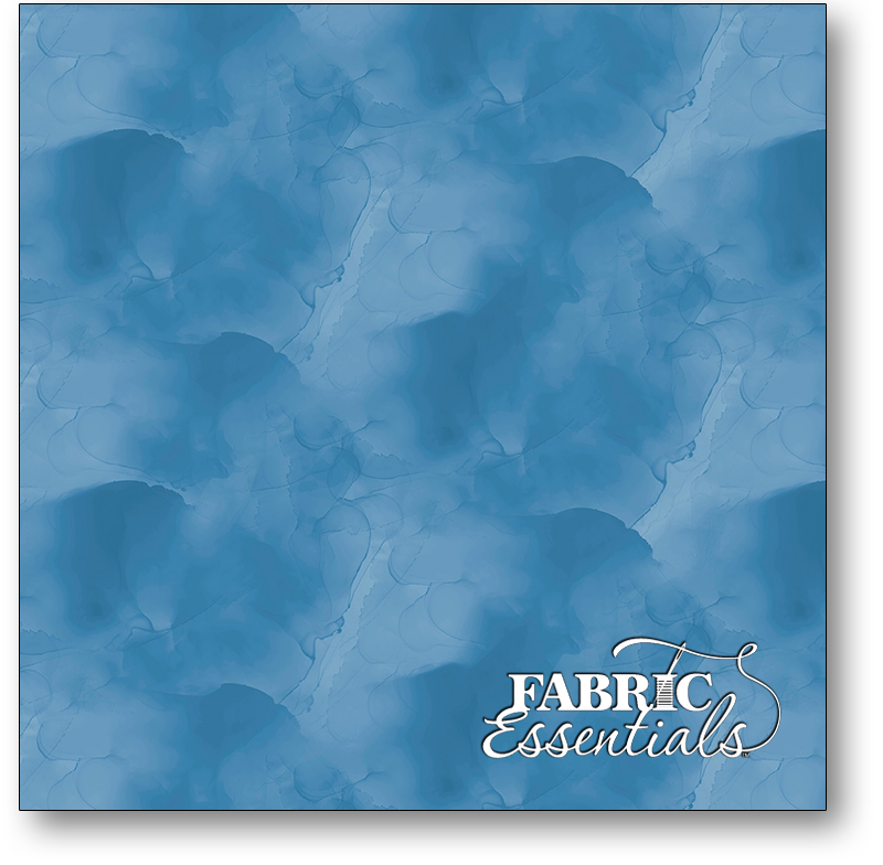 Wilmington - Watercolor Texture - Awakenings - 3039-13408-404 - Blue - BOLT END - 7in