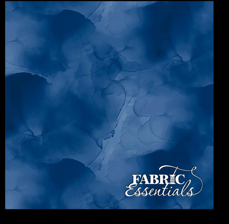 Wilmington - Essentials - Watercolor Texture - 3039-13408-494 - Navy