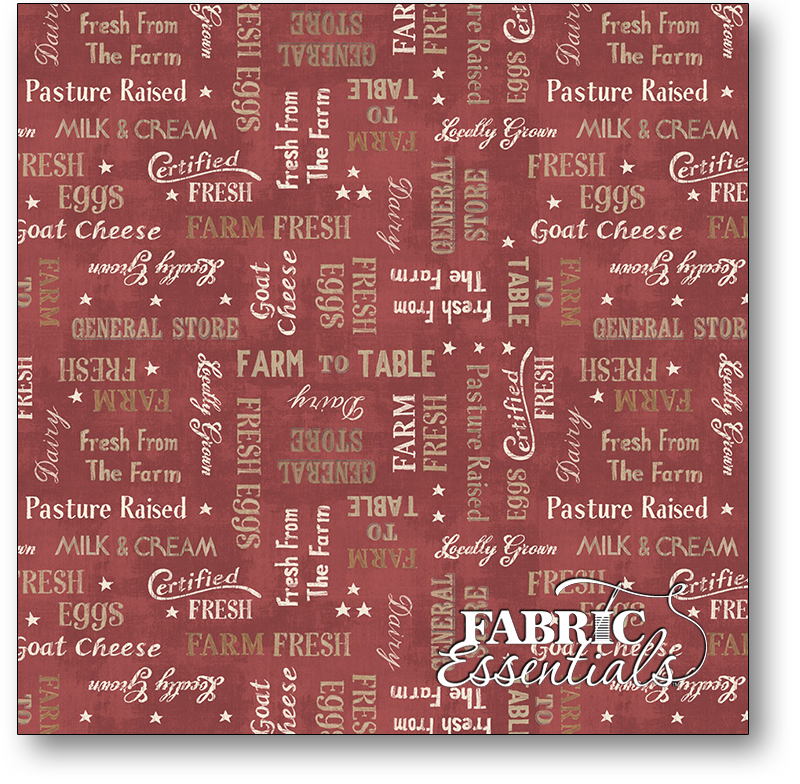 Wilmington - Farmhouse Chic - 1077-89242-321 - Red Words