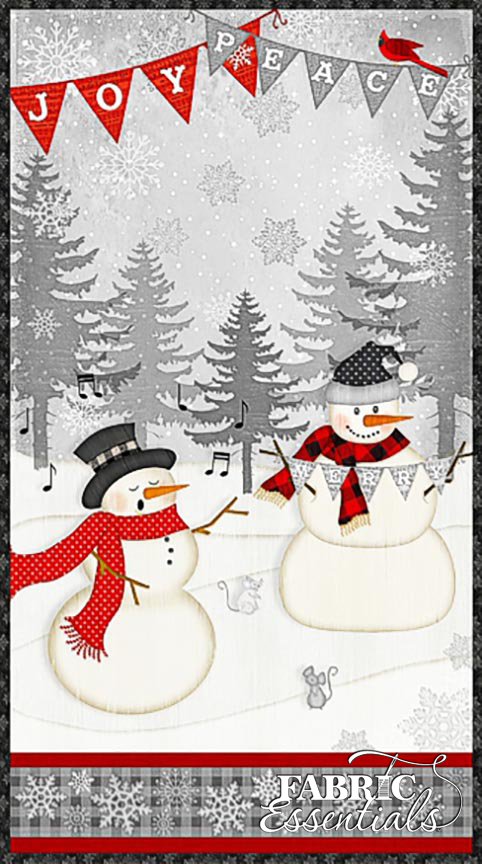 Wilmington - Snowy Wishes - PANEL - Approx 23in x 44in - 1828-82567-931