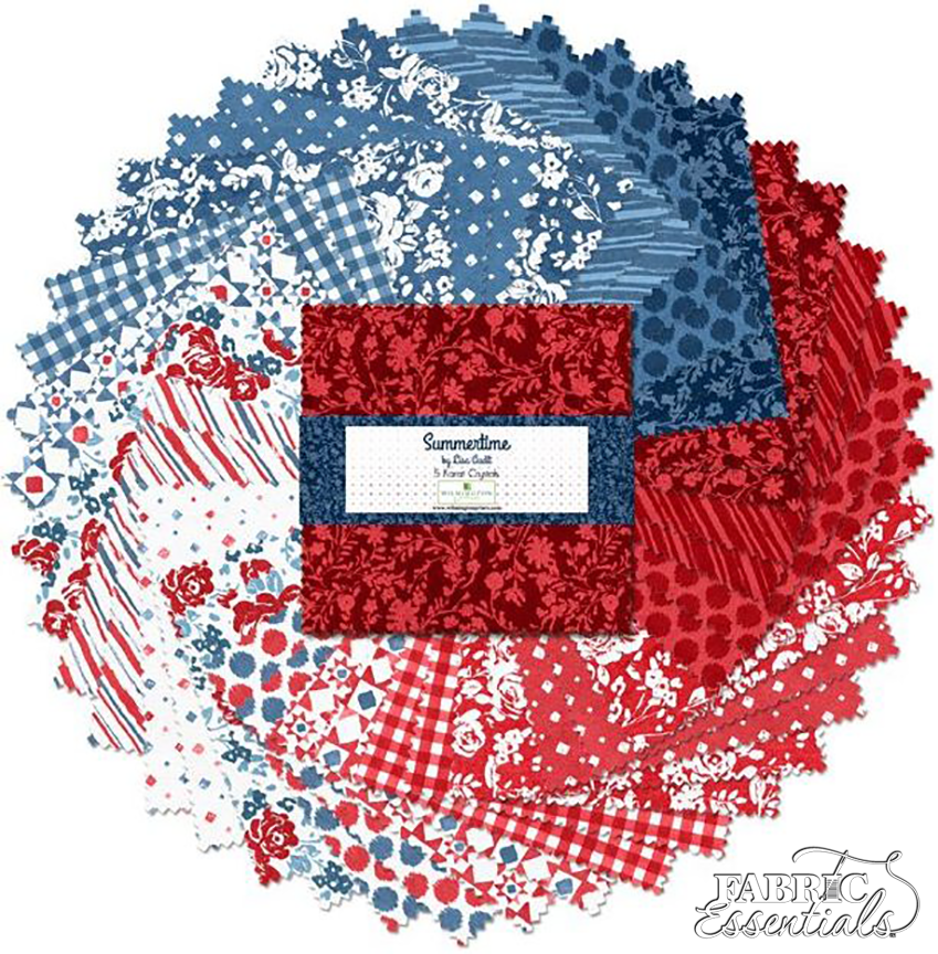 Wilmington - Summertime - 508-615-508 - 5 Karat Cotton Crystals (5 inch squares 42 pieces)