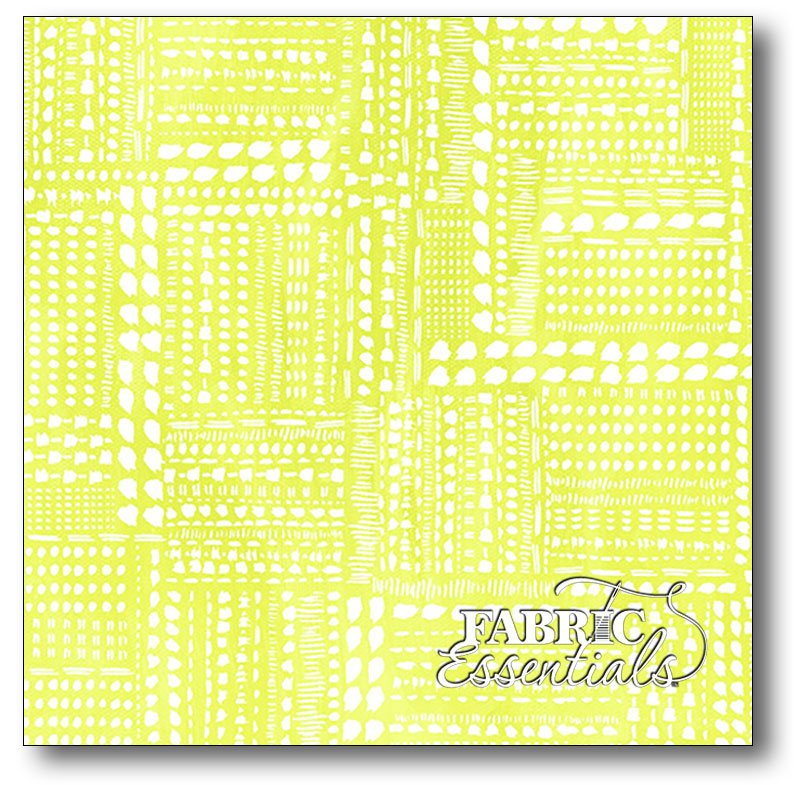 Windham - Blush & Bloom - Lime Dotted Patchwork - 41651-7