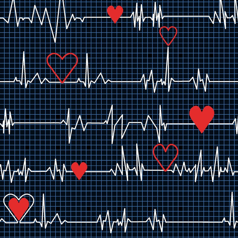 Windham - Calling All Nurses - 37302-1 Black Heart Beat