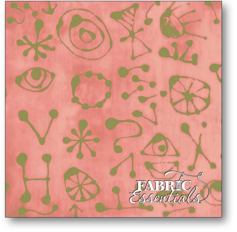 Windham - Marcia Derse - Art History 101 - 50418-20 Rose Miro Glyphs - Pink & Green
