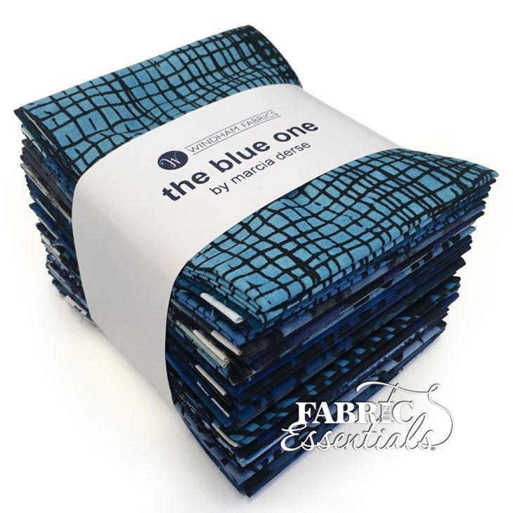 Windham - Marcia Derse - The Blue One - Fat Quarter Bundle of 23 pieces - TBLOFATQ