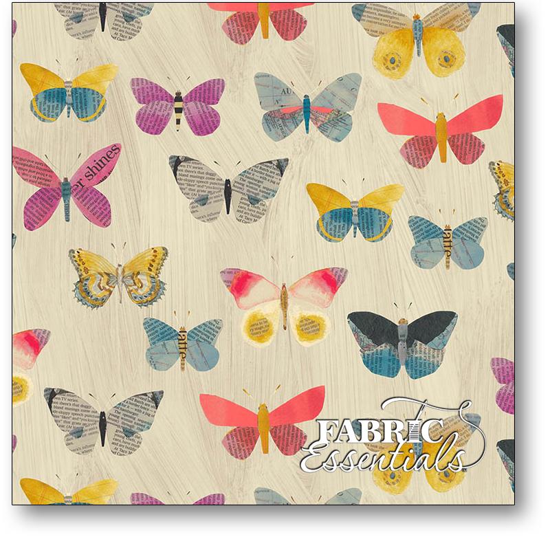 Windham - Wonder - 50515-1 - Newspaper Butterflies - Sand