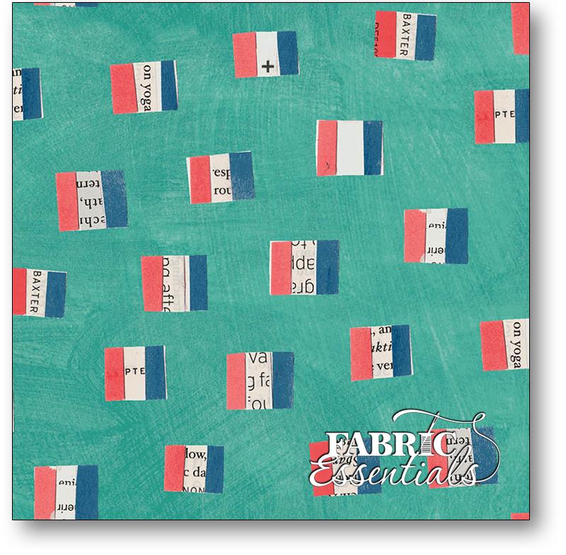 Windham - Wonder - 50518-3- French Flags - Aqua
